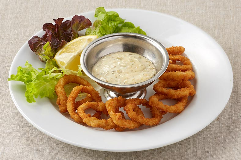 Calamari rings, dip