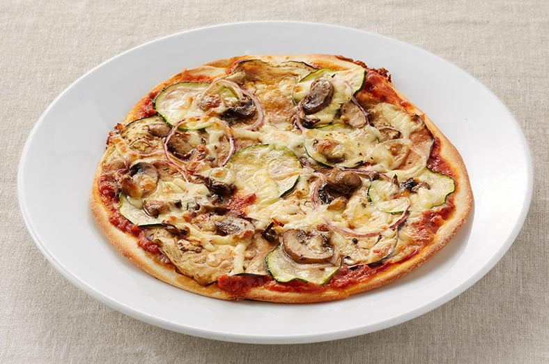 Pizza with eggplant