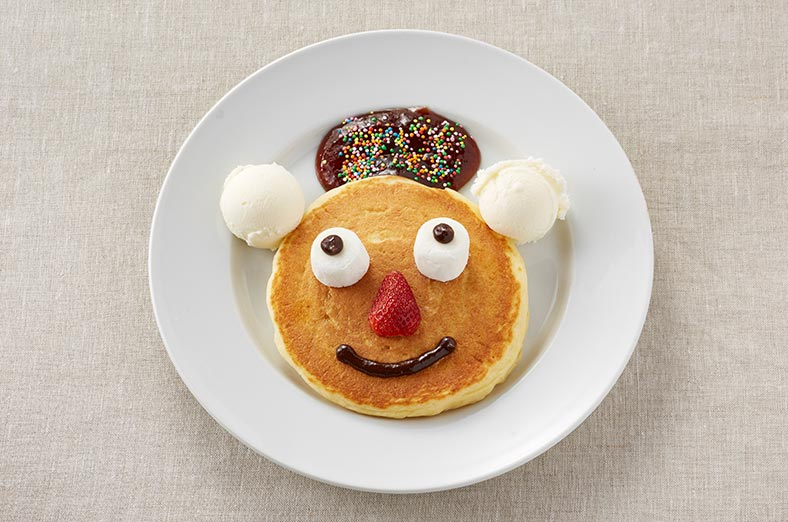 Pancake with a funny face